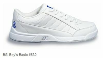 BSI Kids's Children's Boys Athletic Style White Bowling Shoes 532