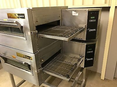 Double Lincoln Impinger 18 Inch Gas Conveyor Pizza Oven