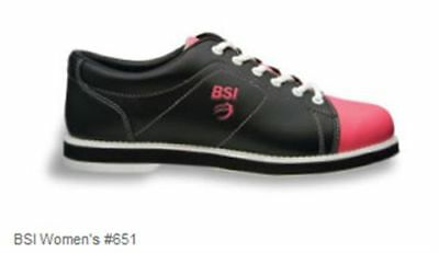 BSI Women's Ladies Retro Black with Pink Bowling Shoes 651