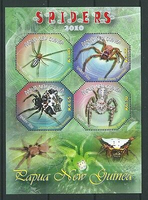 Papua New Guinea 2010 Spiders Sheetlet Of 4 Unmounted Mint,mnh
