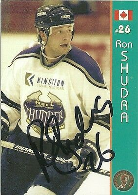 Ron Shudra - Autographed Trading Card .