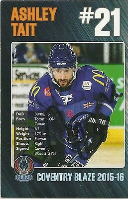 Ashley Tait - Autographed Trading Card .