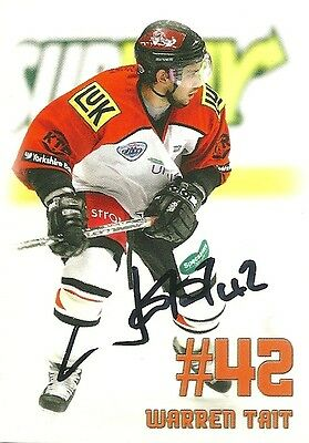 Warren Tait - Autographed Trading Card .