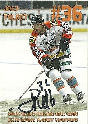 Joey Talbot - Autographed Trading Card .