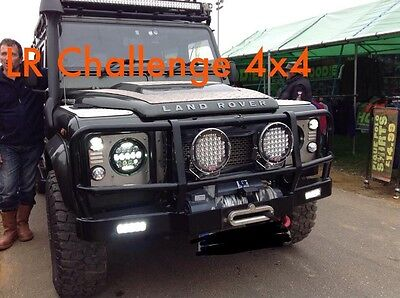 Pair Black LED 370 Watt High Out Put Spot Lights Defender Tractor Case 9'' X 9''