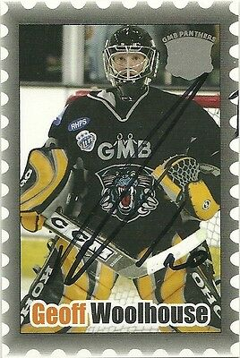 Geoff Woolhouse - Autographed Trading Card .