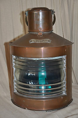 Authentic Copper & Brass 'Starboard' Ship's Lantern