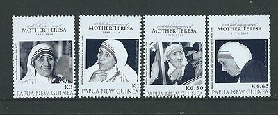 Papua New Guinea 2010 Mother Teresa Set Of 4  Unmounted Mint,mnh