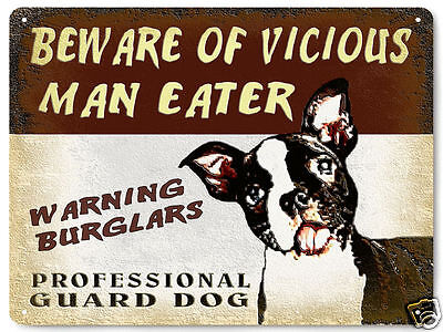 Boston Terrier METAL sign great gift vintage style pet dog funny wall decor 507