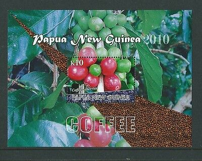 Papua New Guinea 2010 Coffee Miniature Sheet Unmounted Mint,mnh