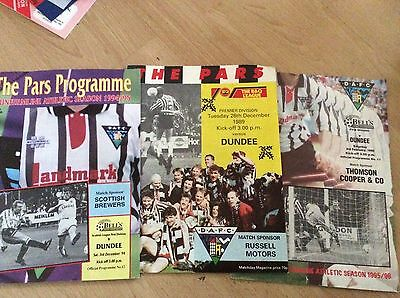 3 X Dunfermline Athletic V Dundee Programmes