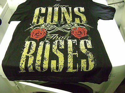 Guns N, Roses  T-Shirt  Adult  Large New Very Soft Says : More Guns Than Roses