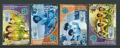 Papua New Guinea 2010 Girl Guides Set Of 4  Unmounted Mint,mnh