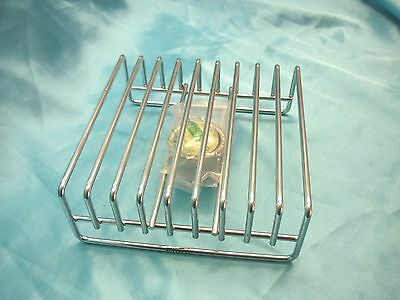 FOOD WARMER with candle holder and candle ART DECO Square Chrome - New