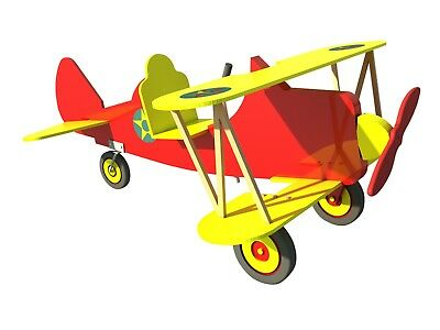 Build your own Childs pedal car bi-plane (DIY Plans) Fun to build!!