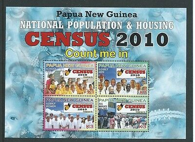 Papua New Guinea 2010 Census Sheetlet Of 4  Unmounted Mint,mnh