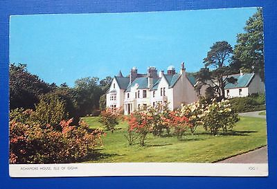 Postcard Achamore House Isle of Gigha posted to Ayr