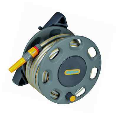 Hozelock Wall Mounted Compact Hose Reel with 15 m Hose - Colour May Vary