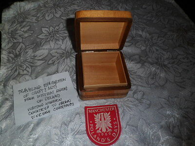 Carved wooden box from regions of Poland
