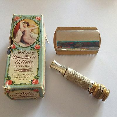Milady Decollete Ladies Safety Razor Gillette Early 20th Century
