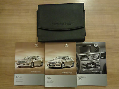 Mercedes Benz E Class Owners Handbook/Manual and Pack 09-13