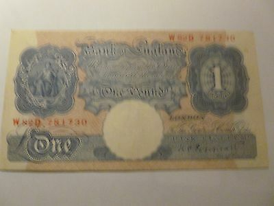 Pound Note   War Issue   Blue  Peppiatt