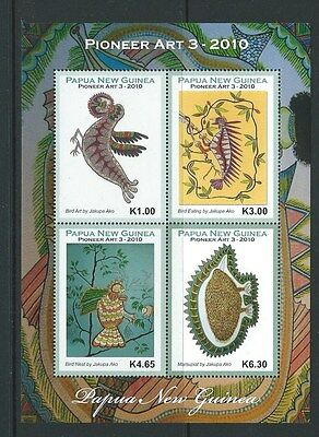 Papua New Guinea 2010 Pioneer Arts 3 Sheetlet Of 4  Unmounted Mint,mnh