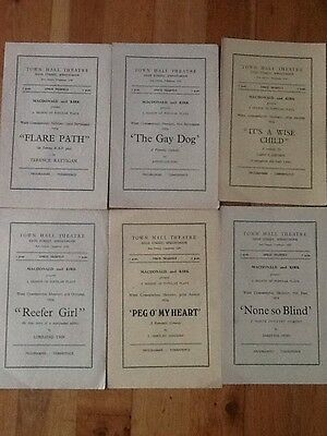 Town Hall Theatre, Spennymoor - Bunch Of 17 Programmes! 1954!