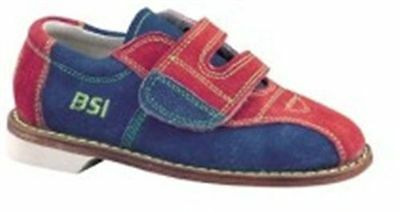 Brand New BSI Kid's Children's Suede Velcro Rental Bowling Shoes Sizes 8-4.5