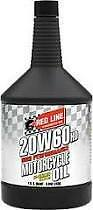 Red Line 20W60 Motorcycle Oil Synthetic V-Twin Harley 12604 12 Quarts
