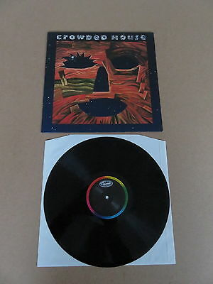 CROWDED HOUSE Woodface LP ORIGINAL 1991 1ST PRESSING VERY RARE MISPRINTED LABEL