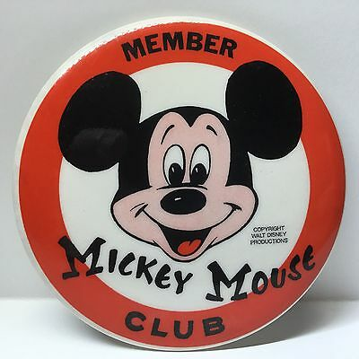 Vintage BUTTON PINBACK:  Member Mickey Mouse Club