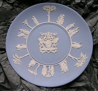 Wedgwood Blue Jasperware Sacrifice Plate - Presented By Police Federation Boxed