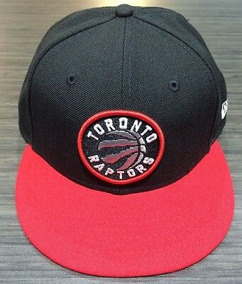Toronto Raptors NBA Basketball Black Red Primary Logo New Era Cap Hat 7 1/4 Fit