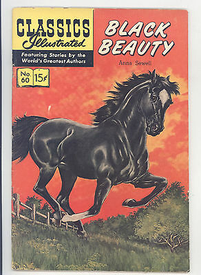 Classics Illustrated #60 HRN 158 FN+ L. B. Cole, August, Froelich, Black Beauty