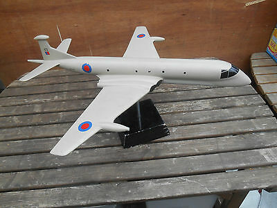 RAF Nimrod Jet Aircraft Wooden Display Model on stand rare large
