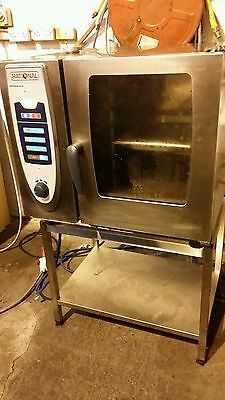 Rational 6 Grid (Tray) SCC 61 Electric Combi Steam Oven on Stand - VGC