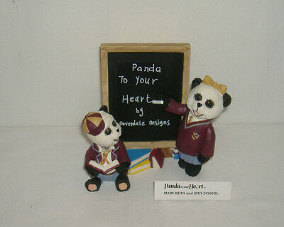 Panda To Your Heart Large Ceramic Panda Ornament MARY-BETH and JOEY SCHOOL - BN
