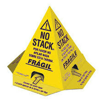 100 No Stack Pallet Cones 8 x 8 x 10 Yellow/Black : English,Spanish, French