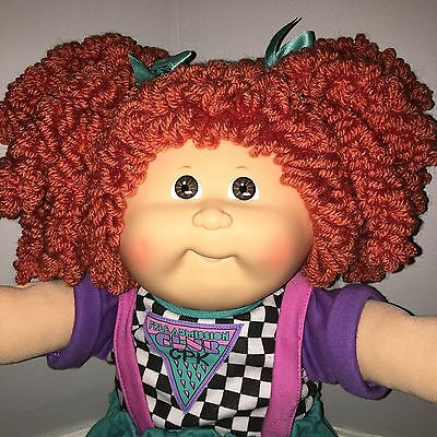 3-Day Auction! MINT Cabbage Patch Kids Doll HM30 Red Double Popcorn
