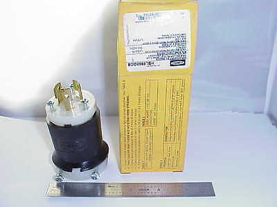 Hubbell Hbl9965Gcb 20 Amp 3-Wire 250 Volt Male Twist Lock Connector *new In Box*