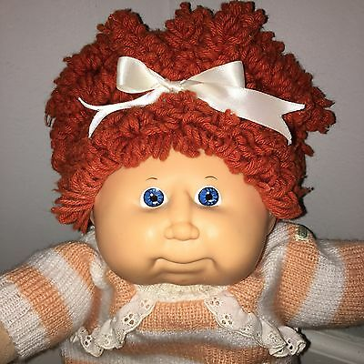 P Cabbage Patch Kids Doll Red Popcorn in HTF peach Knit Outfit