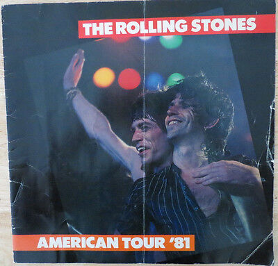 Rolling Stones 1981 tour book