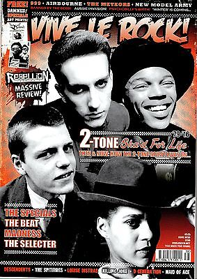 VIVE LE ROCK! issue 38 2-Tone special , THE SPECIALS , MADNESS, & A4 poster