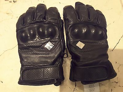 Mountain Force black leather ski gloves SIZE 8.0 RRP 120