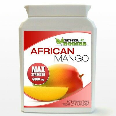 AFRICAN MANGO MAX 6000mg MAX STRENGTH WEIGHT LOSS DIET 60 BOTTLE SLIMMING