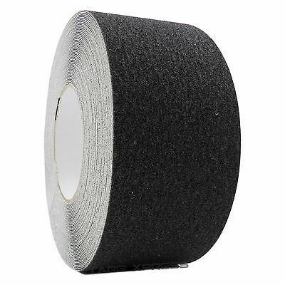 "3"" x 60' Black Non Skid Adhesive Tape 60 Grit Grip Anti Slip Traction Safety"