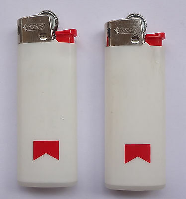 Lot 2 Vintage MARLBORO Bic Lighters NEW Old Stock Made in Spain # Free Shipping