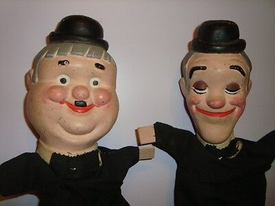 STANLIO & OLLIO LAUREL & HARDY MARIONETTE vintage pupazzo bambola puppet doll