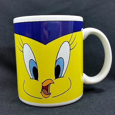 Looney Tunes Tweety Bird Graduation Mug Cup Graduate Warner Brothers Yellow Blue